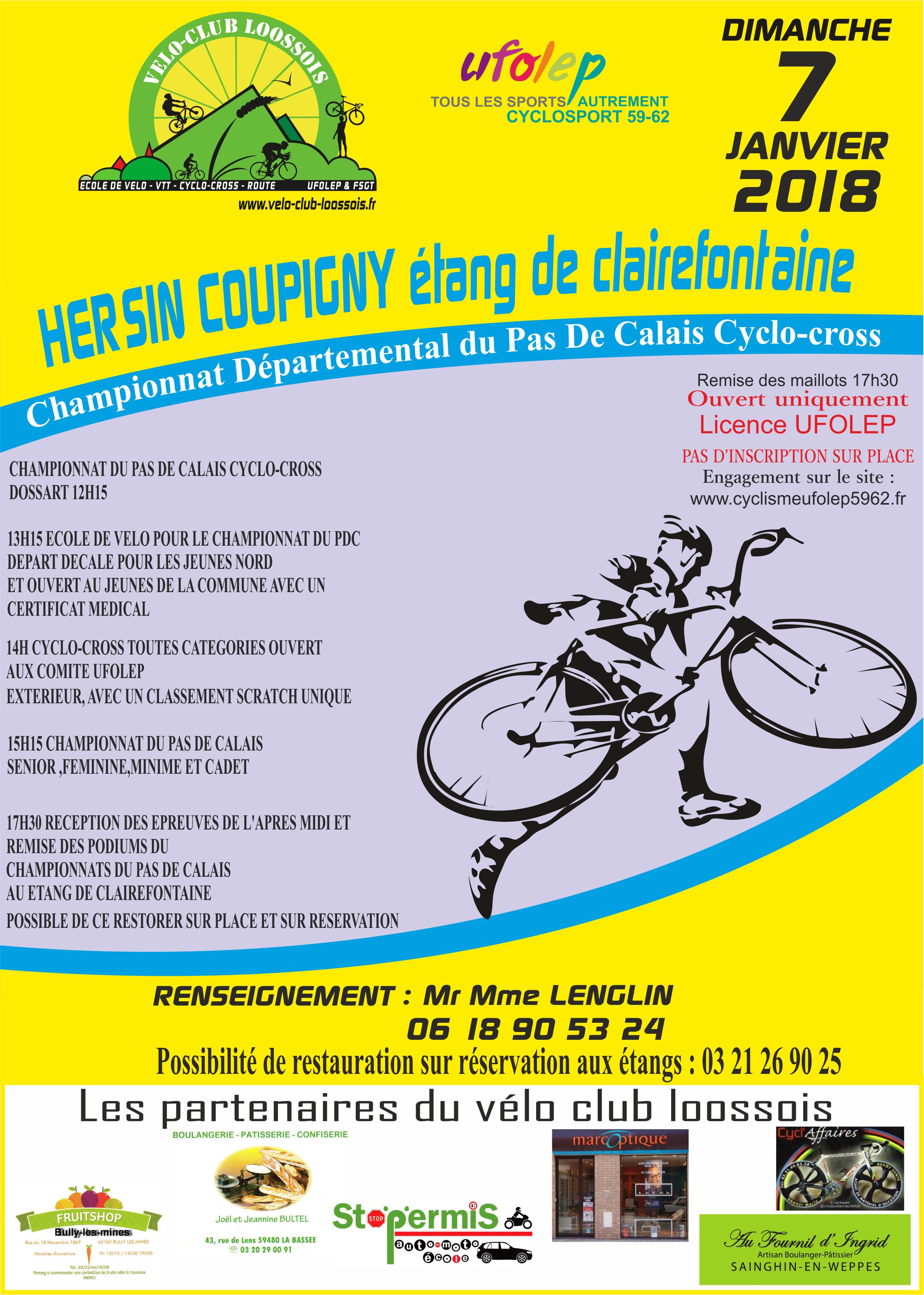 Championnat départemental de Cyclo-Cross et VTT à Étangs de la Claire Fontaine | Hersin-Coupigny | Hauts-de-France | France
